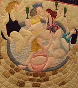 Bathers Quilt Design