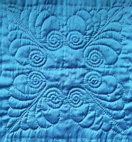Blue Wholecloth Quilt