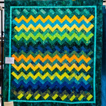 01:-ZigZag JellyRoll Strips By Heather Hasthorpe / Long arm quilted by Mandy Parks