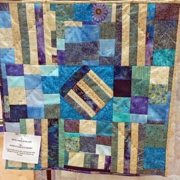 03:-Mile a Minute Blues By Angela Coslett-Derby / A great day using bits and pieces with Margaret Currie - made to match my lounge