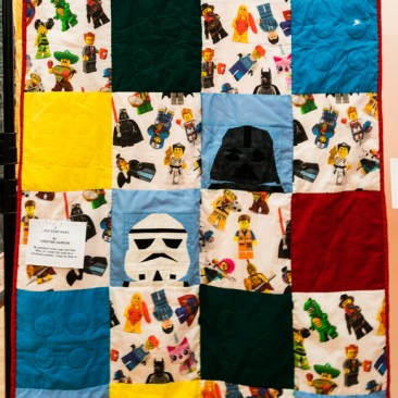 06:-Lego Star Wars By Christine Harrow / My grandson loves Lego and Star Wars, so I made this quilt as a Christmas present. I hope he likes it!