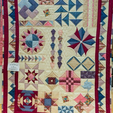 07:-3 Of a Kind Mine, Hers and Yours By June Langford / BOM from Popular Patchwork magazine 2013. Made with two of my friends