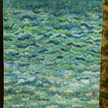 17:-Turned Out Rough By Jill Sharpe / Hand-dyed silks and hand quilted.