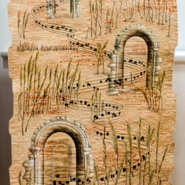 19:-Ubi Caritas By Linda Turner / Plainsong chant of the 13th century Poor Clare Nuns drifts over reeds to Ely from a window at Denny Abbey near Cambridge. (Ubit Caritas: Where there is charity and love, there is God).