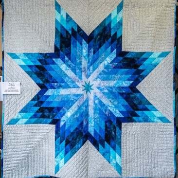 26:-She's a Star By Lindsay Knight / Inspired by watching my favourite band - James-in North Wales this summer. Machine pieced and quilted