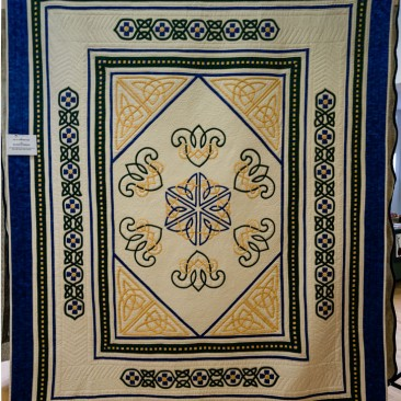 37:-Celtic Inspirations By Maureen Stebbings / This quilt reflects the joy and beauty of the Celtic style. Hand quilted