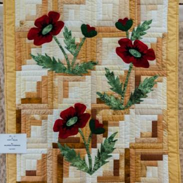 38:-Poppy Fields By Maureen Stebbings / Log Cabin