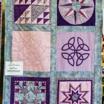 46:-Points of Learning (1) By Monica Powell / Formed of six different blocks, exploring various techniques.