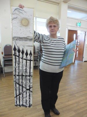 Linda Turner with her entry for the 2019 Chairman's Challenge awarded Merit