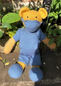 Imarni's Covid Teddy Bear Knitted